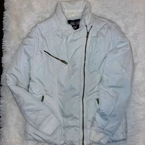 Me Jane White jacket with zippers